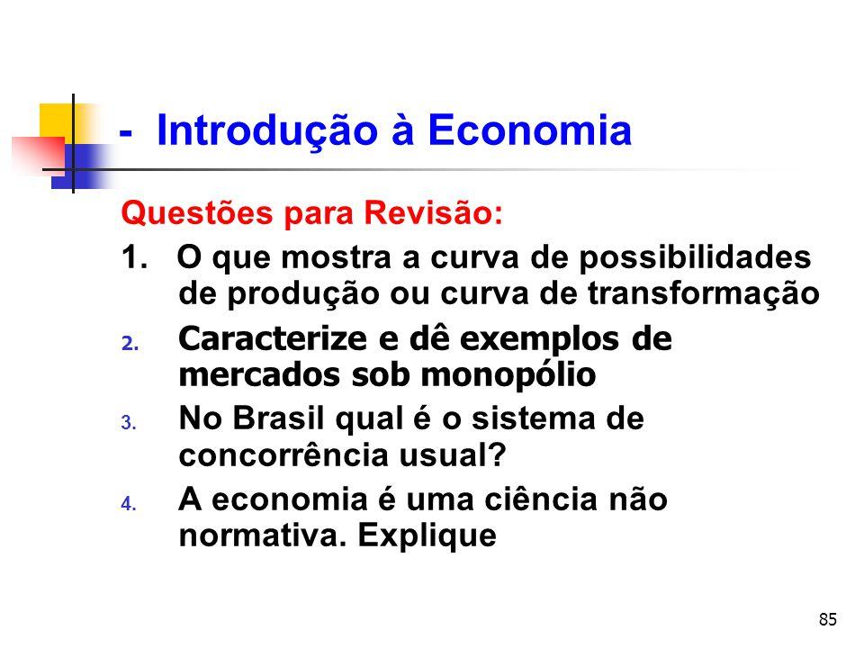 - Introdução à Economia