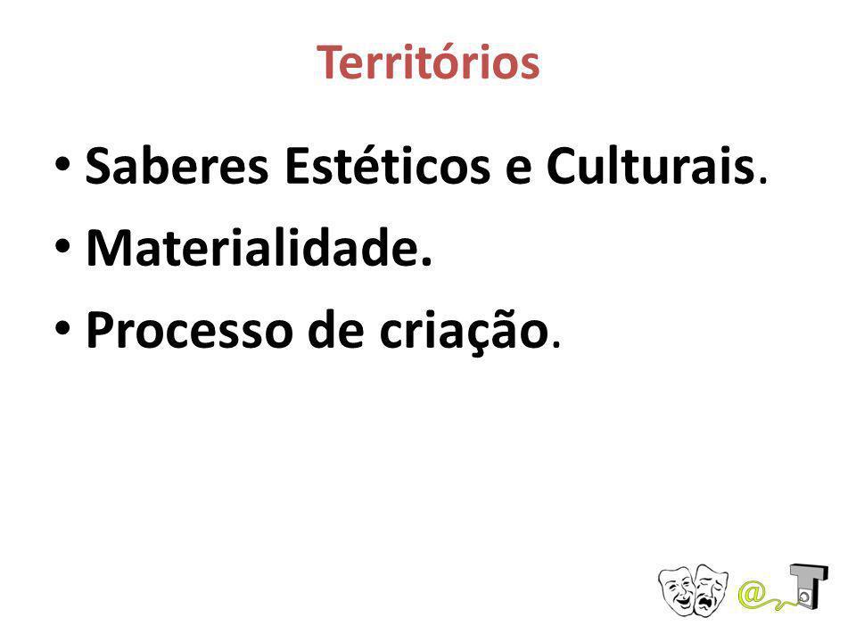 Saberes Estéticos e Culturais. Materialidade. Processo de criação.