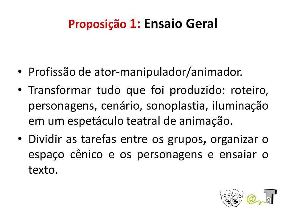 Proposição 1: Ensaio Geral