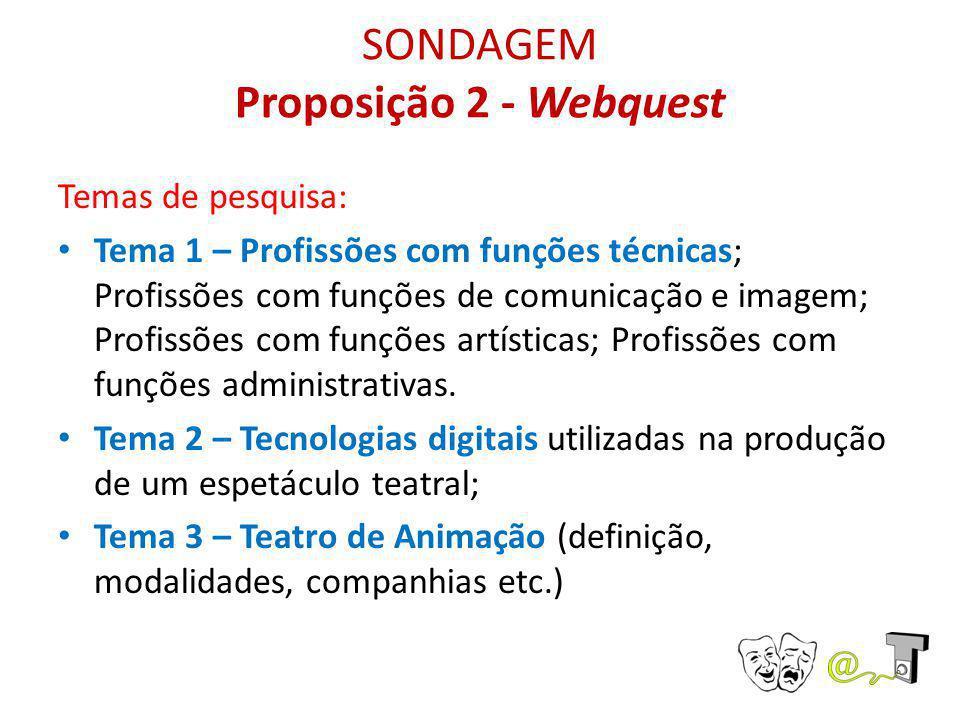 SONDAGEM Proposição 2 - Webquest