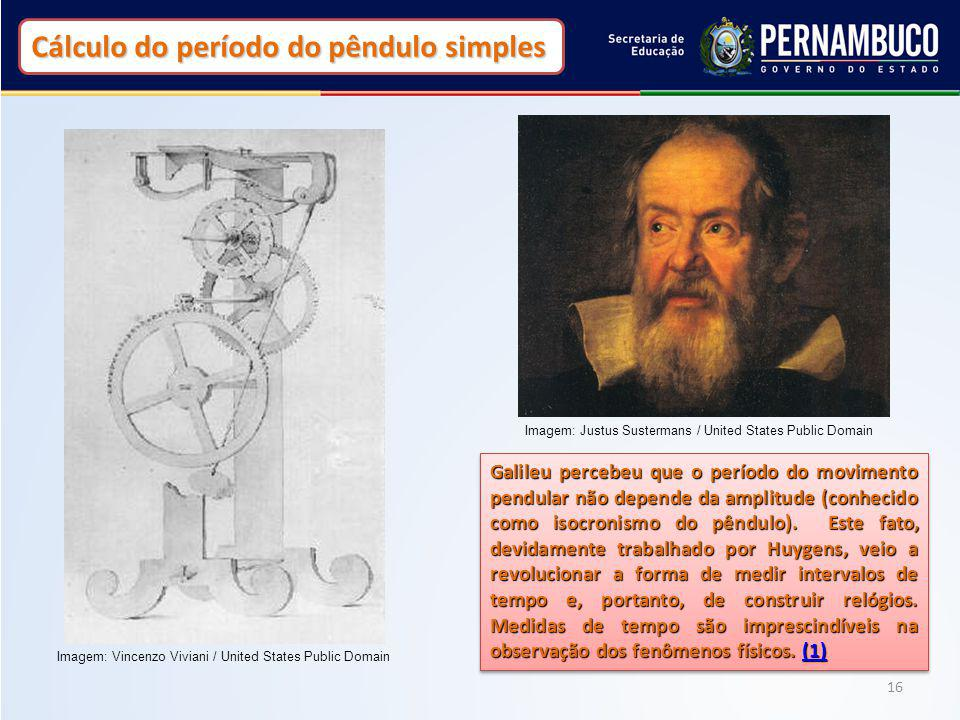 Cálculo do período do pêndulo simples