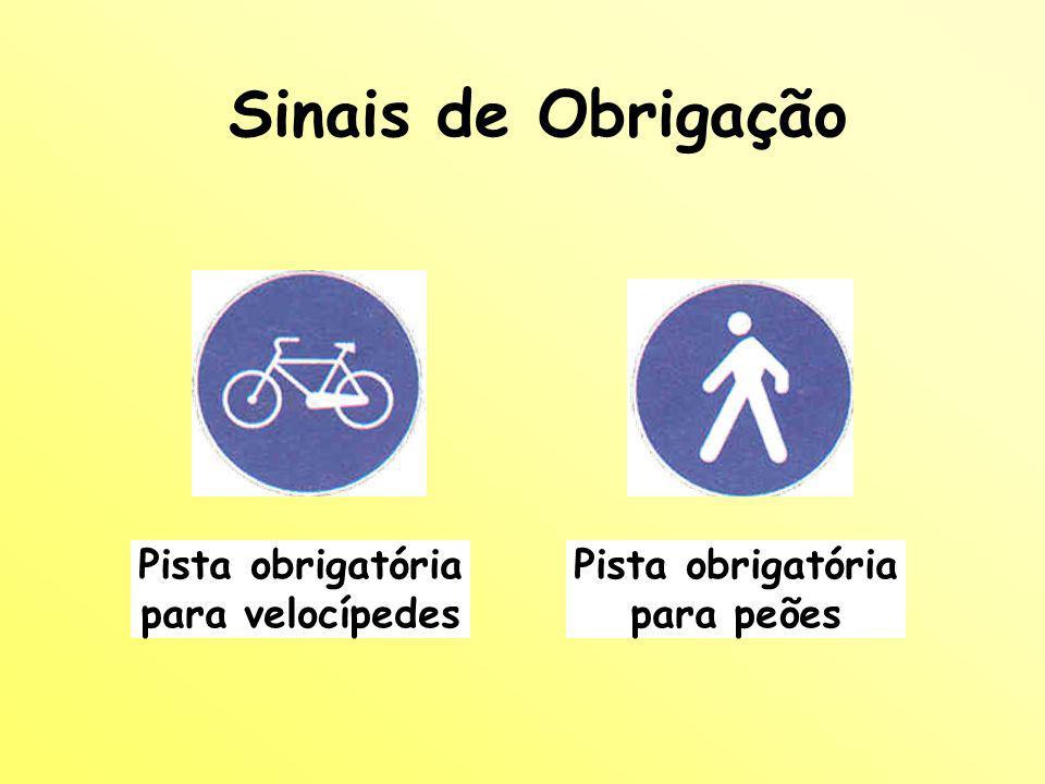 Pista obrigatória para velocípedes Pista obrigatória para peões