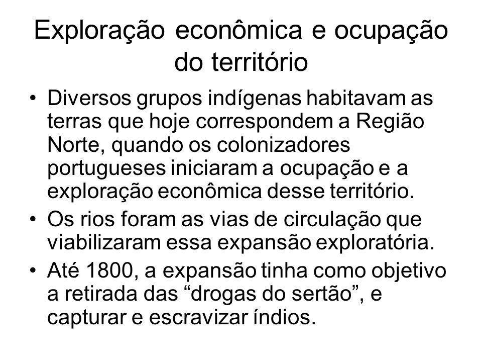 Exploração econômica e ocupação do território