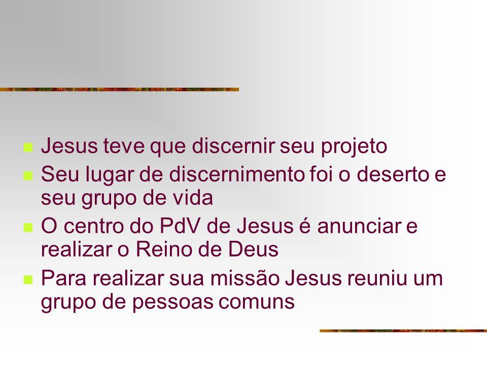 Jesus teve que discernir seu projeto