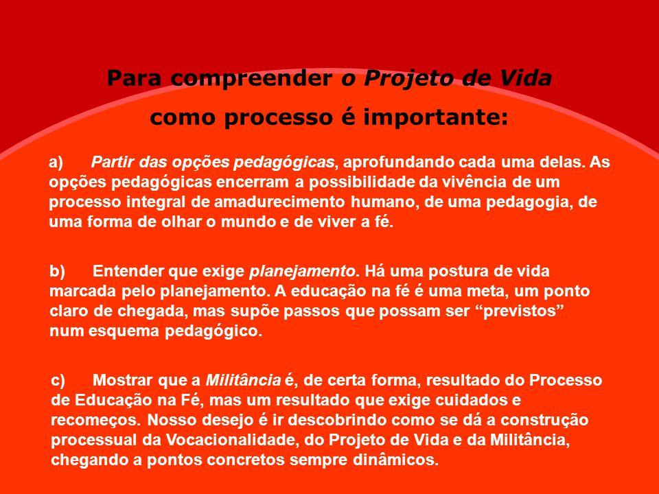 Para compreender o Projeto de Vida como processo é importante: