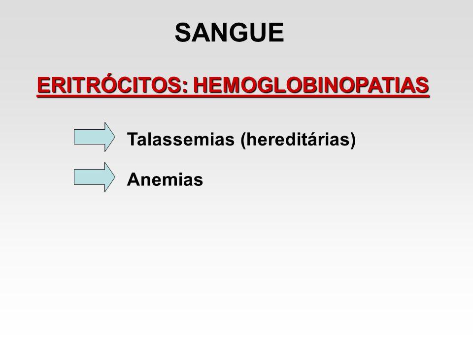 SANGUE ERITRÓCITOS: HEMOGLOBINOPATIAS Talassemias (hereditárias)