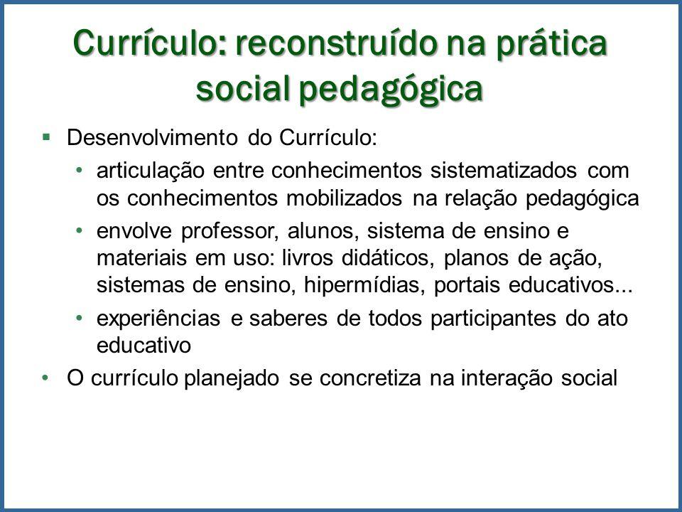 Currículo: reconstruído na prática social pedagógica
