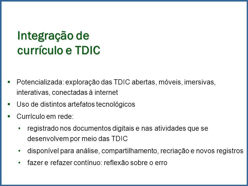 Integração de currículo e TDIC