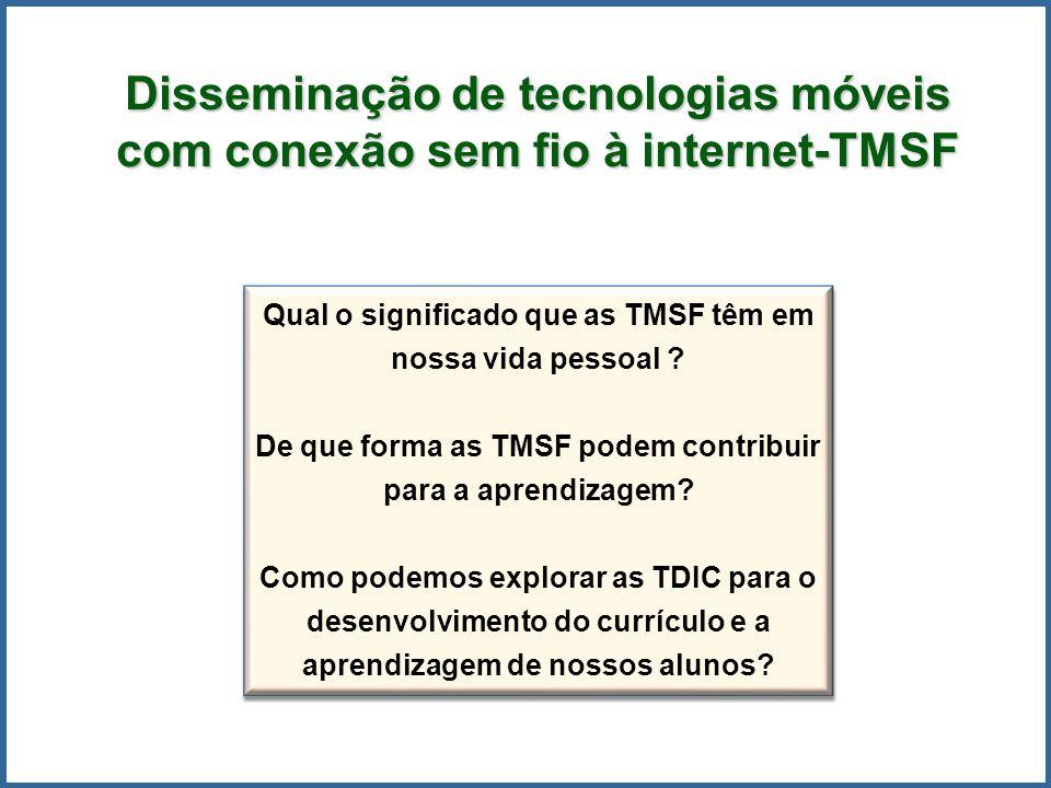 Disseminação de tecnologias móveis com conexão sem fio à internet-TMSF