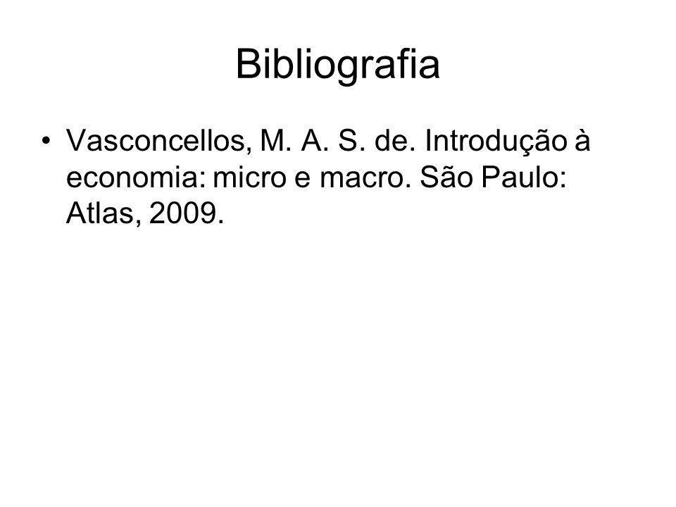 Bibliografia Vasconcellos, M. A. S. de. Introdução à economia: micro e macro.