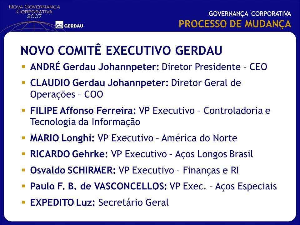 NOVO COMITÊ EXECUTIVO GERDAU