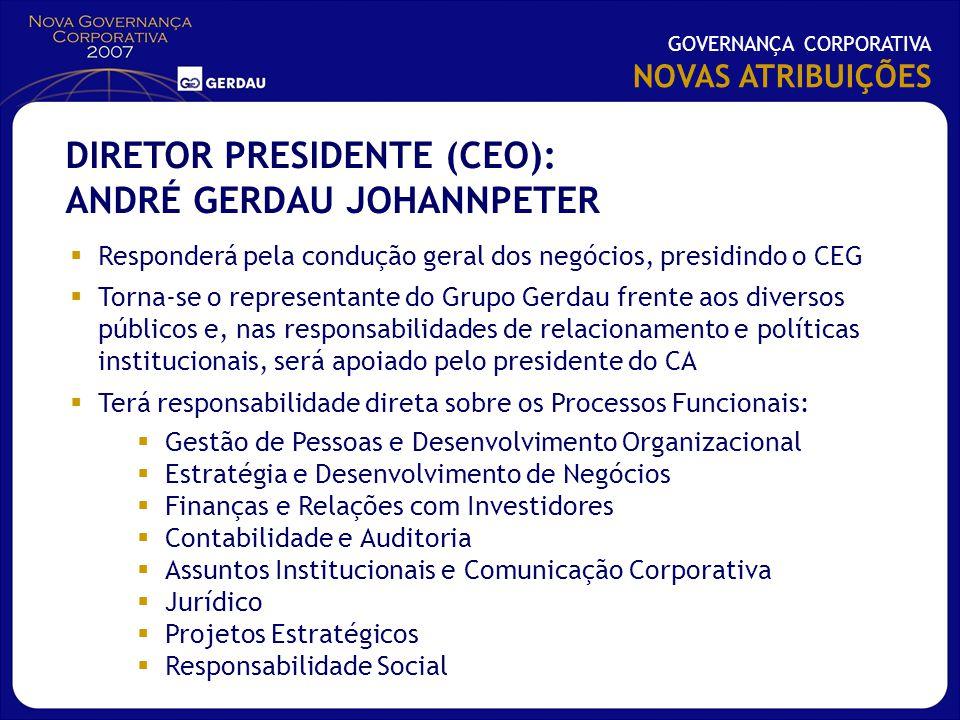 DIRETOR PRESIDENTE (CEO): ANDRÉ GERDAU JOHANNPETER