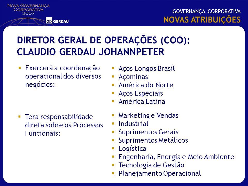 DIRETOR GERAL DE OPERAÇÕES (COO): CLAUDIO GERDAU JOHANNPETER