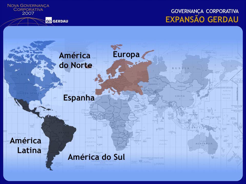 EXPANSÃO GERDAU Europa América do Norte Espanha América Latina