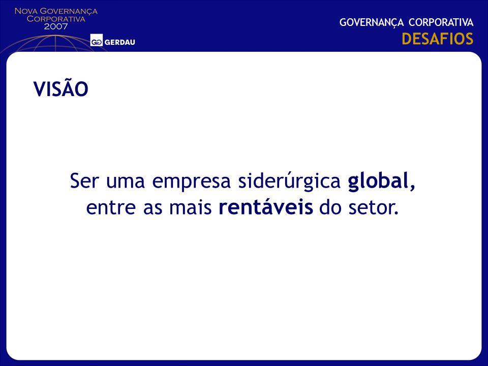 Ser uma empresa siderúrgica global, entre as mais rentáveis do setor.