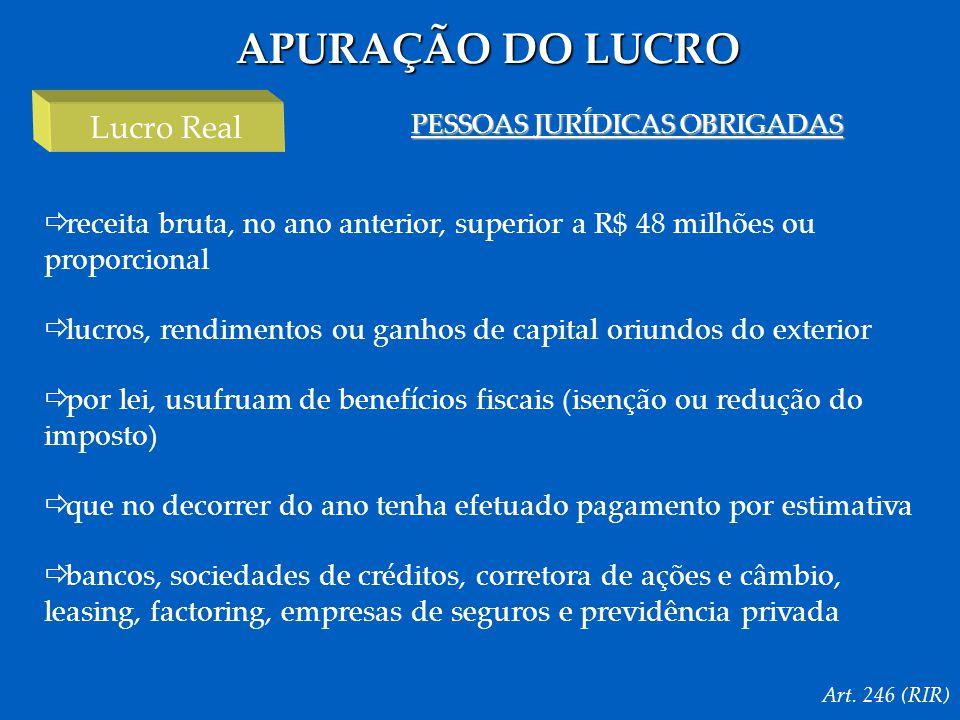 PESSOAS JURÍDICAS OBRIGADAS
