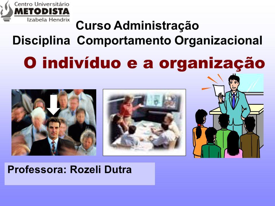 O indivíduo e a organização