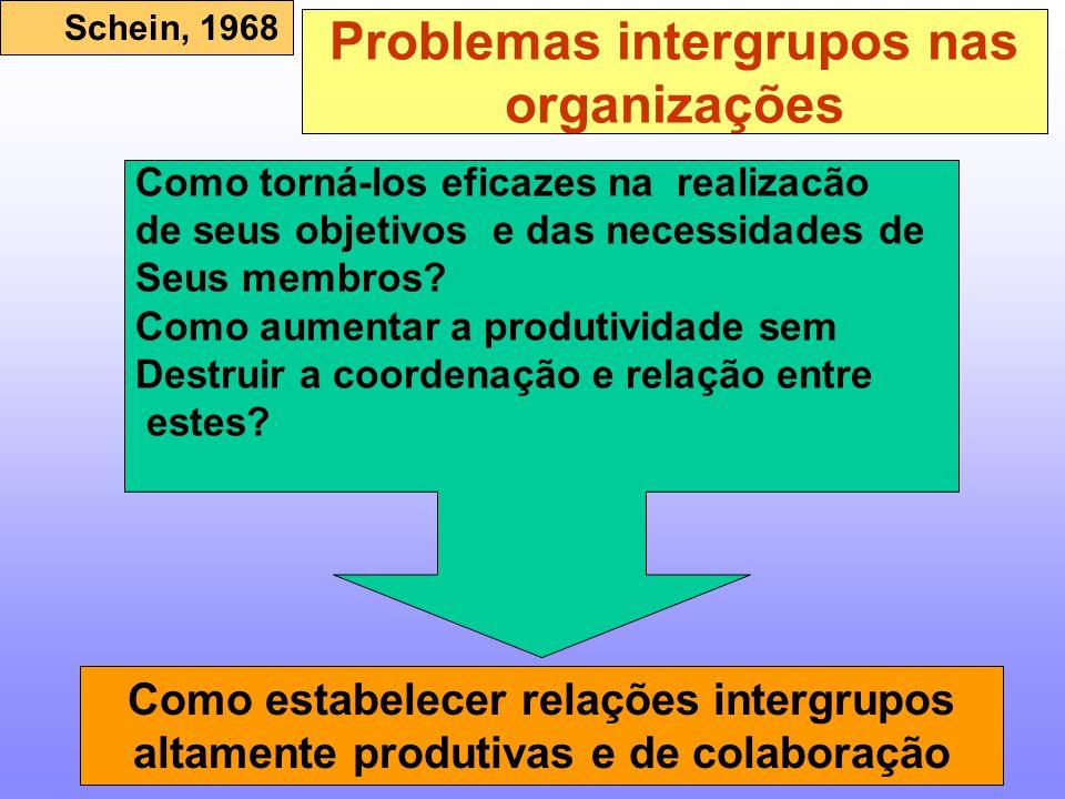 Problemas intergrupos nas organizações