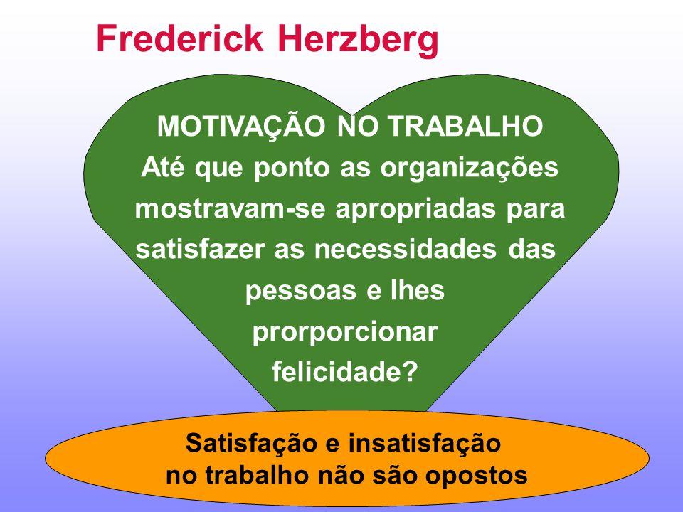 Frederick Herzberg MOTIVAÇÃO NO TRABALHO Até que ponto as organizações