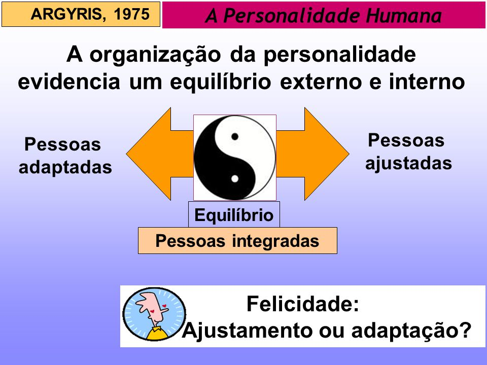 A Personalidade Humana Ajustamento ou adaptação