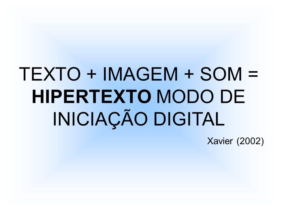 TEXTO + IMAGEM + SOM = HIPERTEXTO MODO DE INICIAÇÃO DIGITAL