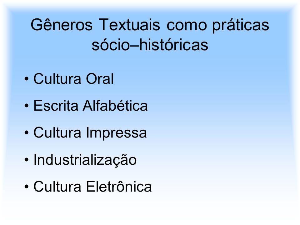 Gêneros Textuais como práticas sócio–históricas
