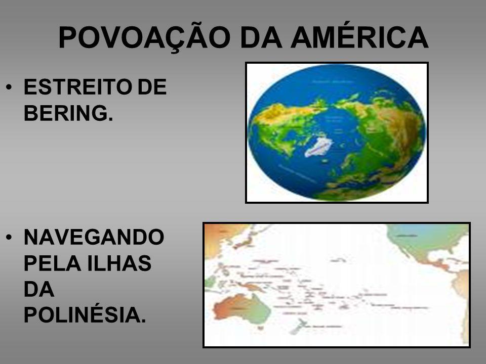 POVOAÇÃO DA AMÉRICA ESTREITO DE BERING.
