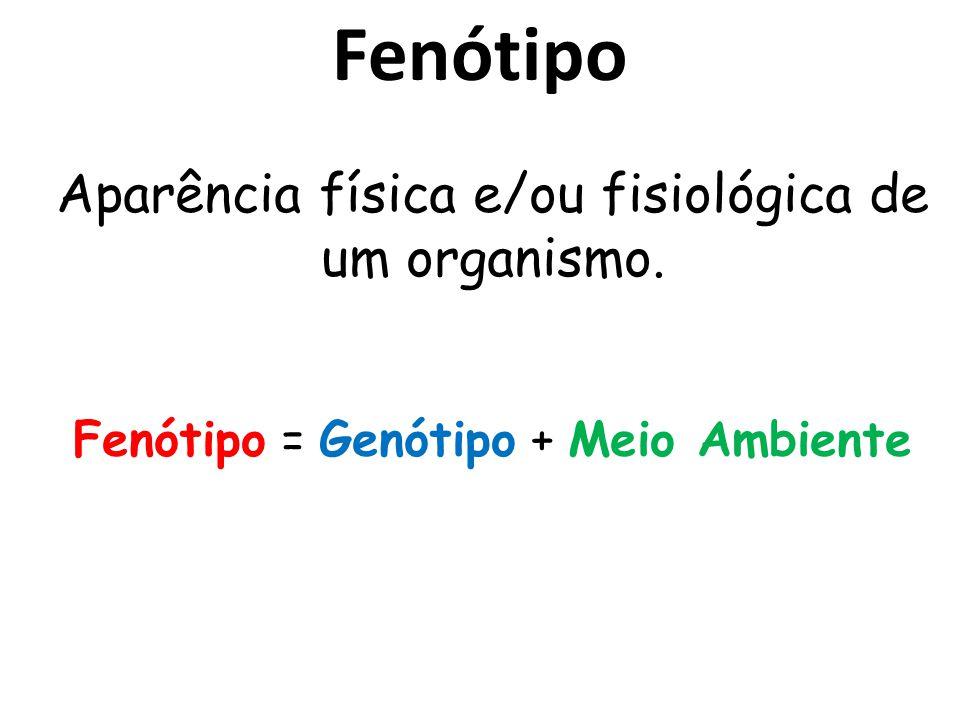 Fenótipo Aparência física e/ou fisiológica de um organismo.