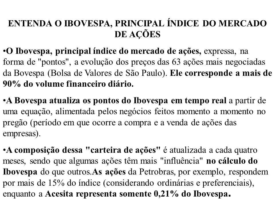 ENTENDA O IBOVESPA, PRINCIPAL ÍNDICE DO MERCADO DE AÇÕES