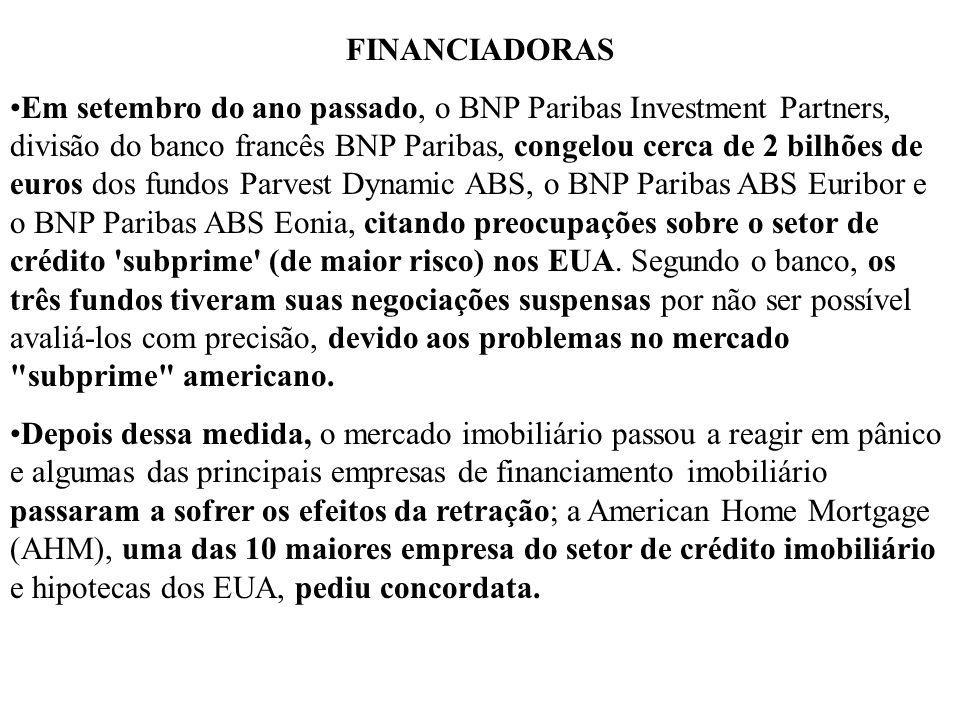 FINANCIADORAS