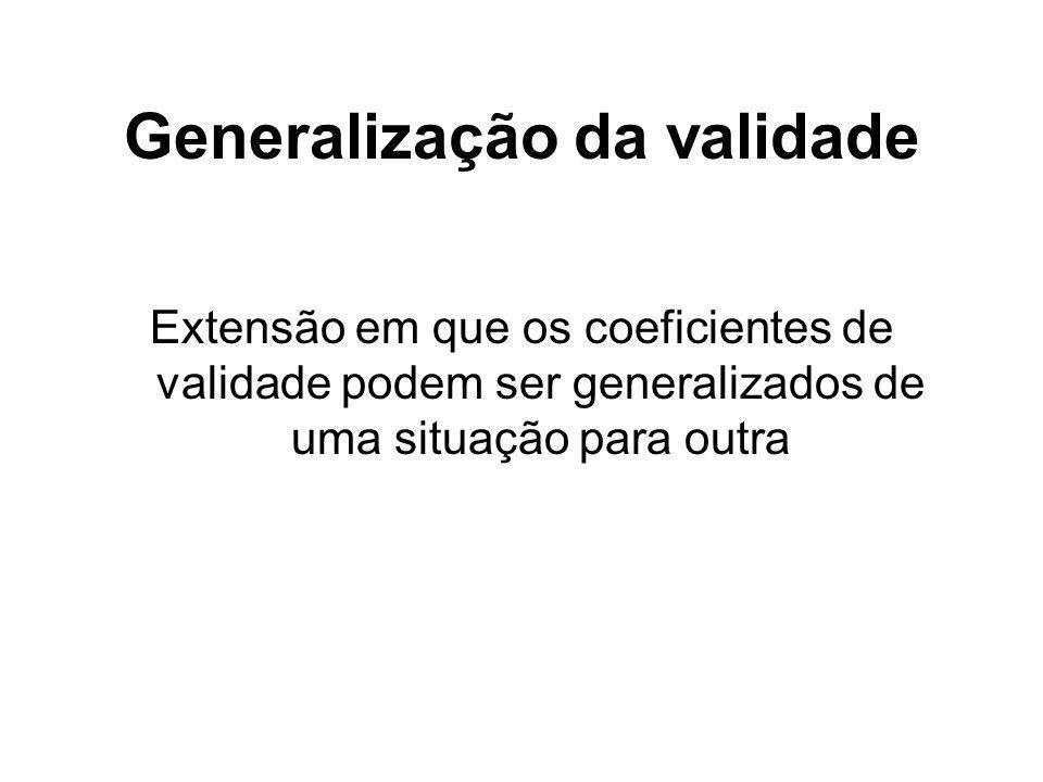 Generalização da validade