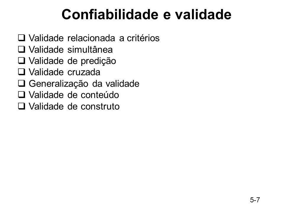 Confiabilidade e validade
