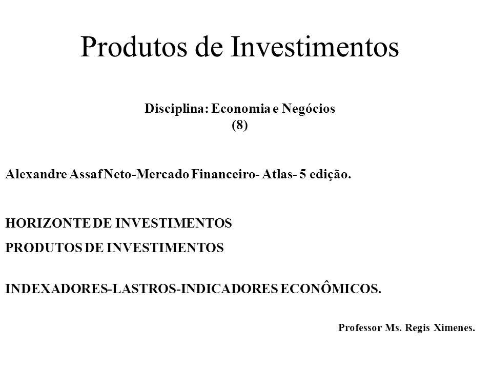 Produtos de Investimentos Disciplina: Economia e Negócios (8)