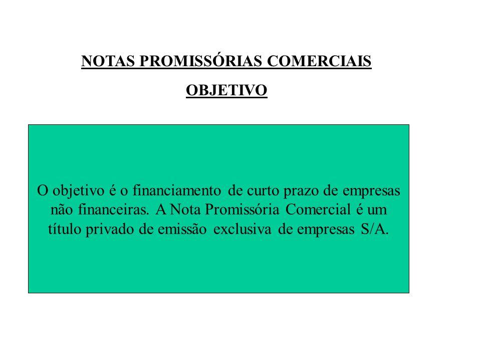 NOTAS PROMISSÓRIAS COMERCIAIS