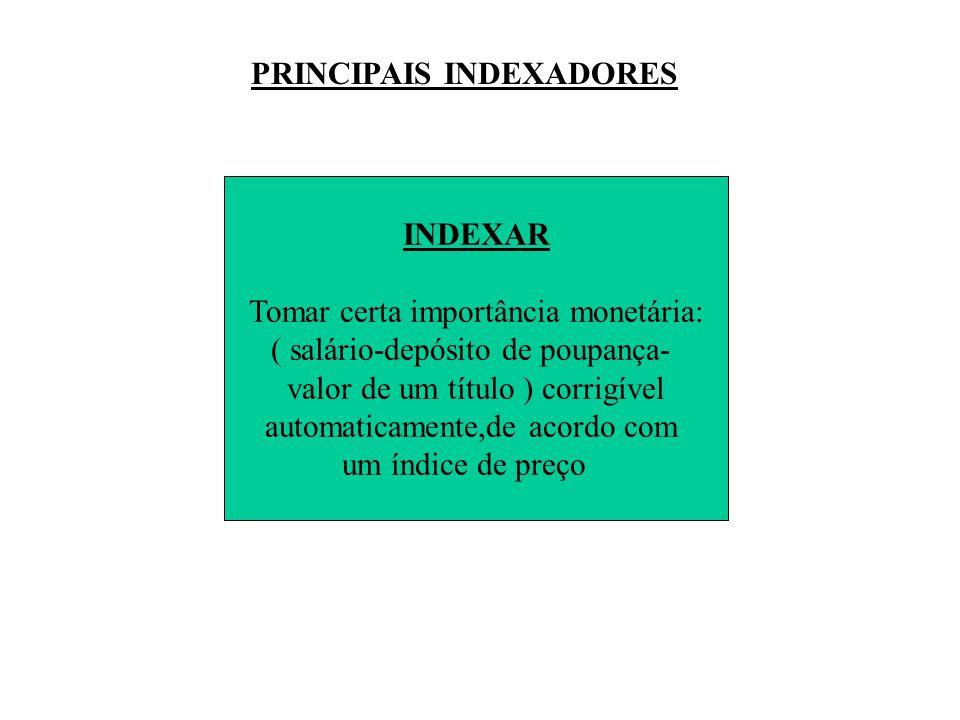 PRINCIPAIS INDEXADORES