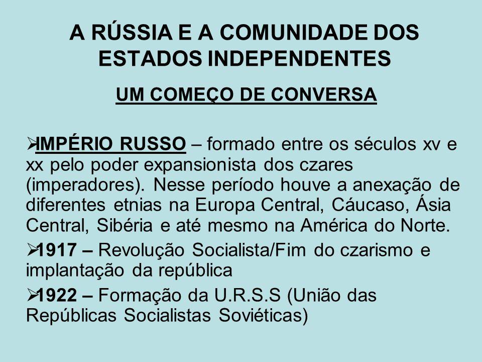 A RÚSSIA E A COMUNIDADE DOS ESTADOS INDEPENDENTES