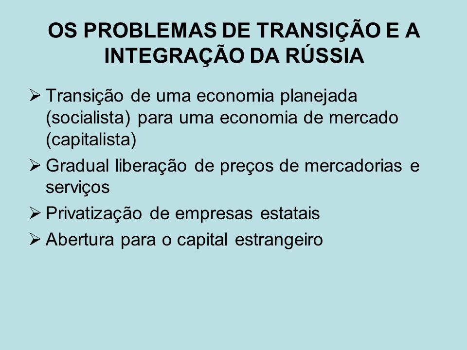 OS PROBLEMAS DE TRANSIÇÃO E A INTEGRAÇÃO DA RÚSSIA