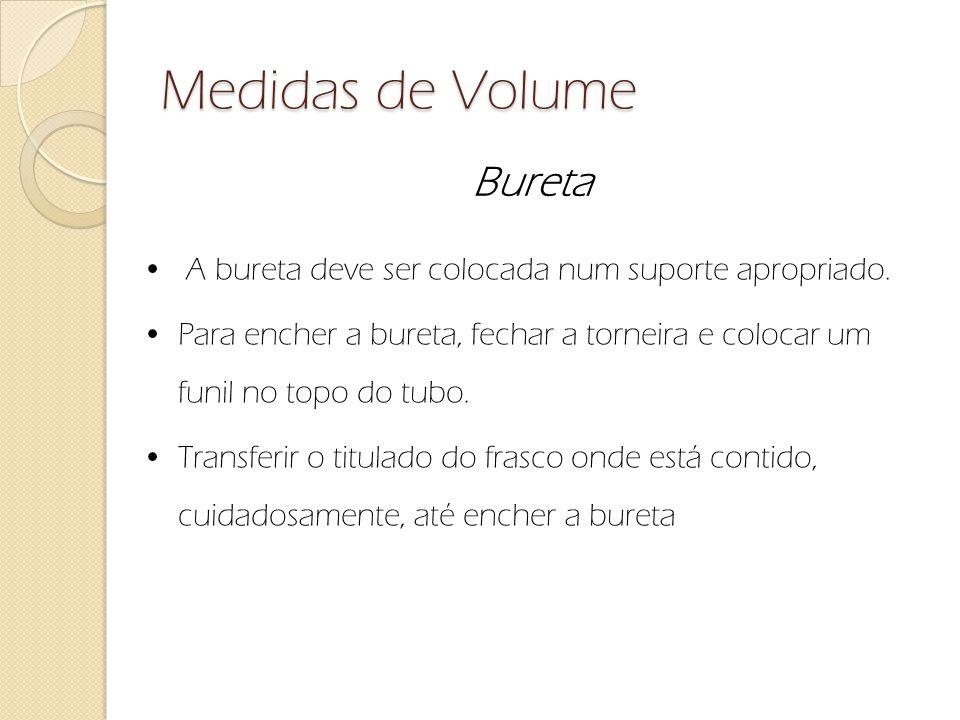 Medidas de Volume Bureta