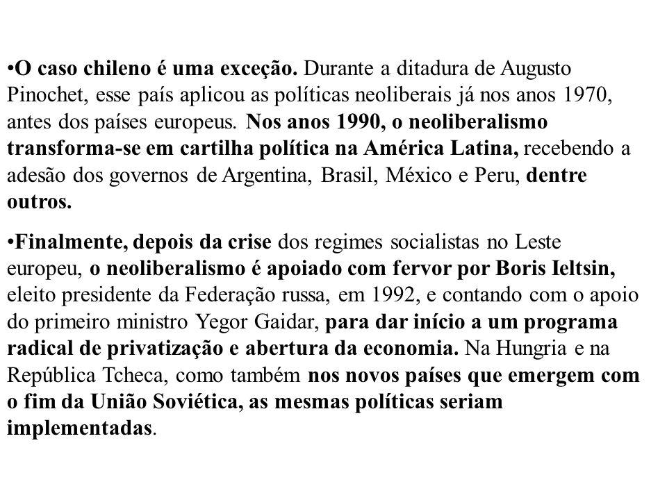 O caso chileno é uma exceção