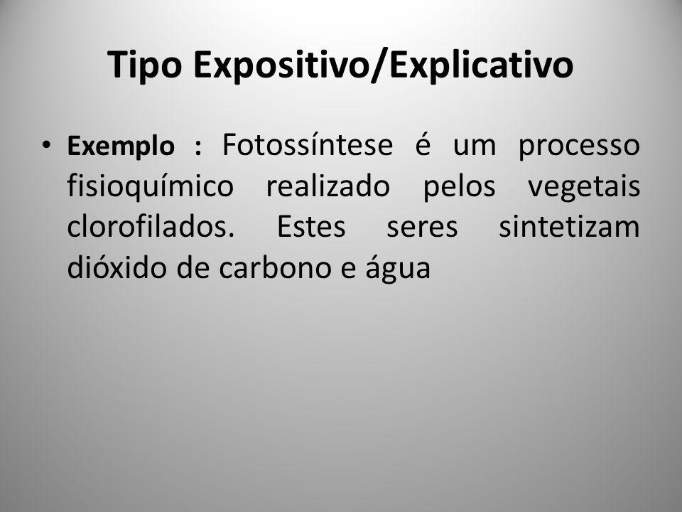 Tipo Expositivo/Explicativo