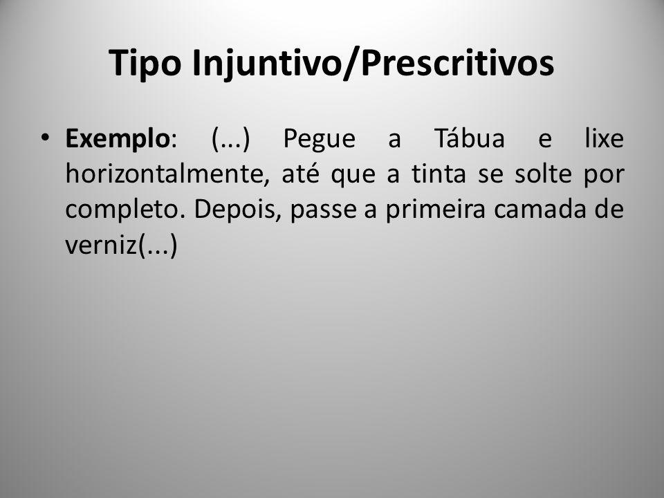 Tipo Injuntivo/Prescritivos