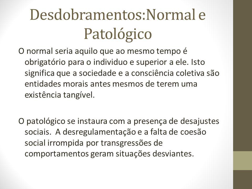 Desdobramentos:Normal e Patológico
