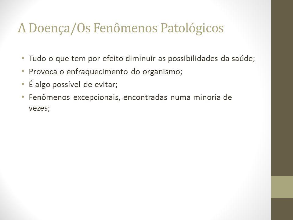 A Doença/Os Fenômenos Patológicos