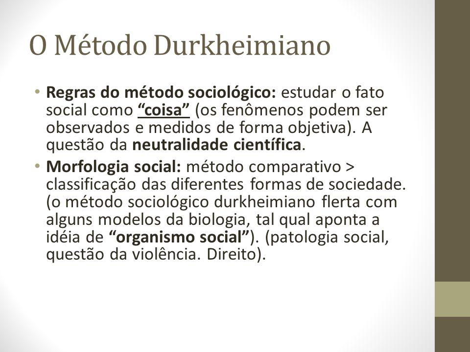 O Método Durkheimiano