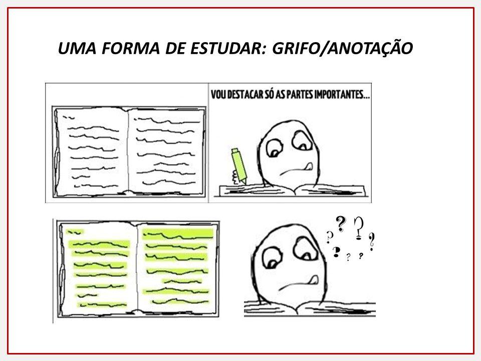 UMA FORMA DE ESTUDAR: GRIFO/ANOTAÇÃO