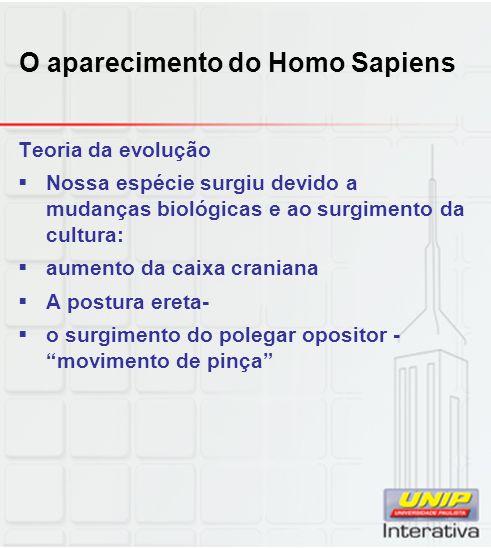 O aparecimento do Homo Sapiens