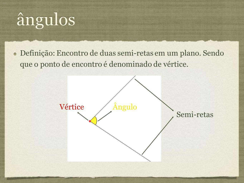 Definição: Encontro de duas semi-retas em um plano