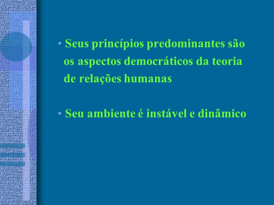 Seus princípios predominantes são