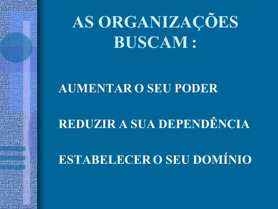 AS ORGANIZAÇÕES BUSCAM :
