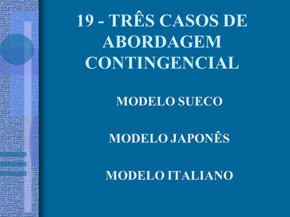 19 - TRÊS CASOS DE ABORDAGEM CONTINGENCIAL